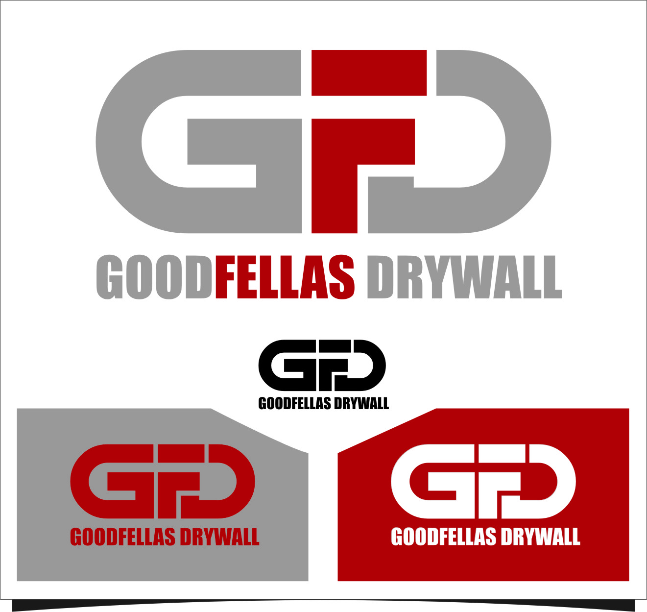 Logo Design by Ngepet_art - Entry No. 26 in the Logo Design Contest Creative Logo Design for Goodfellas Drywall.
