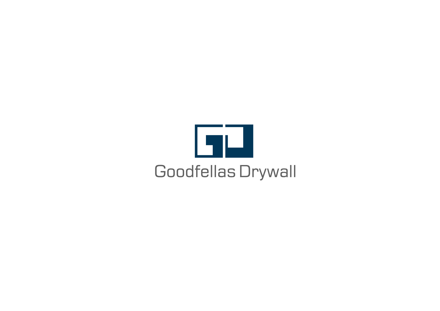 Logo Design by Osi Indra - Entry No. 29 in the Logo Design Contest Creative Logo Design for Goodfellas Drywall.