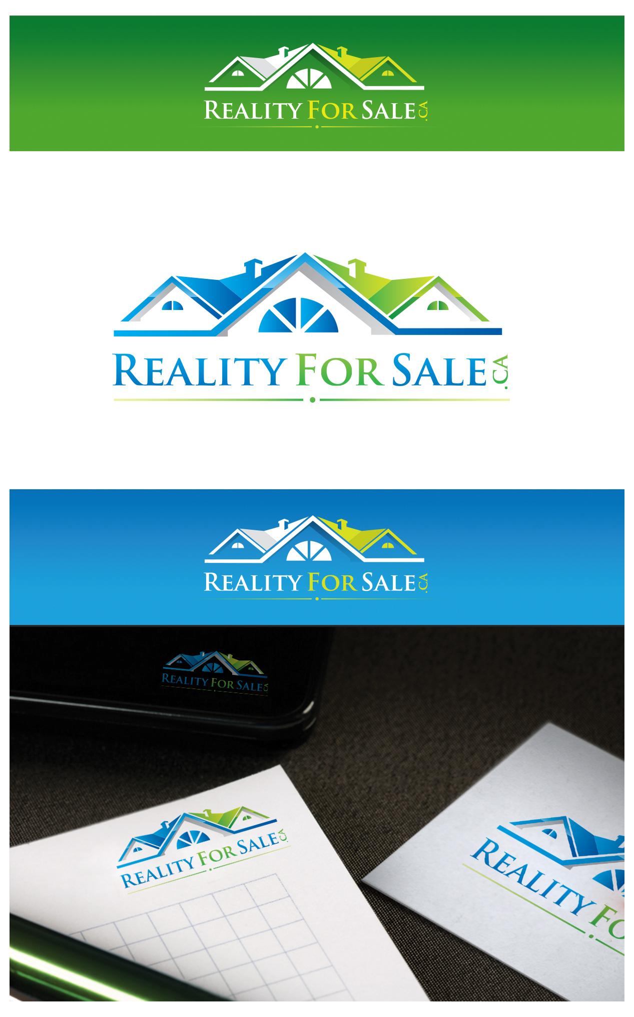 Logo Design by Creasian - Entry No. 74 in the Logo Design Contest Inspiring Logo Design for RealtyForSale.ca.