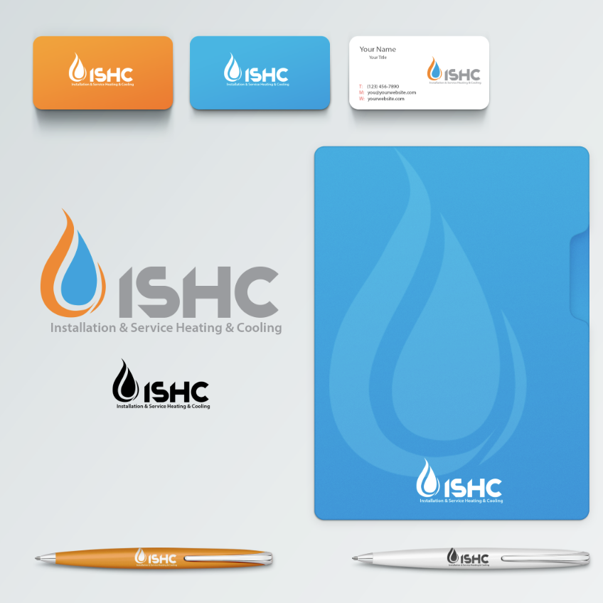 Logo Design by limix - Entry No. 25 in the Logo Design Contest New Logo Design for Installation & Service Heating & Cooling (ISHC).