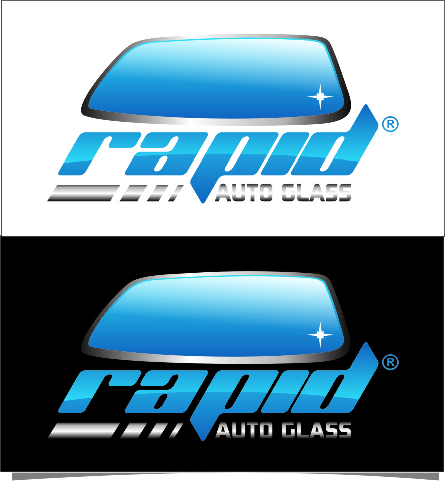 Logo Design by Ngepet_art - Entry No. 147 in the Logo Design Contest Unique Logo Design Wanted for Rapid Auto Glass.
