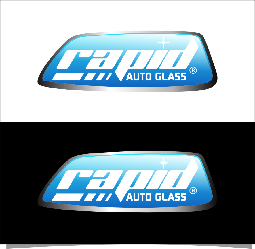 Logo Design by Ngepet_art - Entry No. 148 in the Logo Design Contest Unique Logo Design Wanted for Rapid Auto Glass.