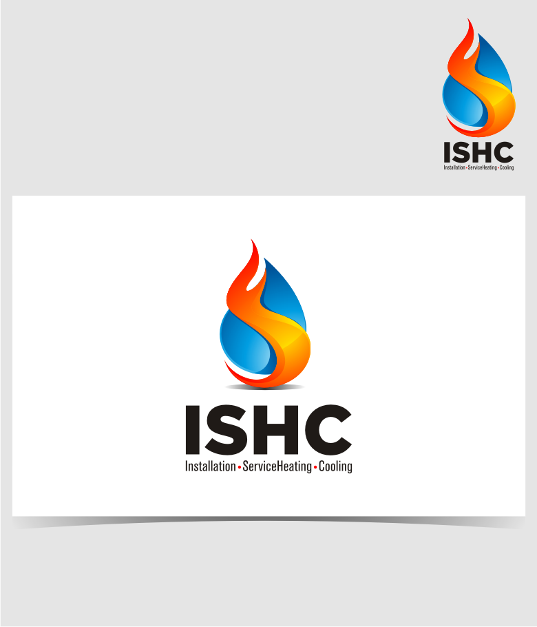 Logo Design by graphicleaf - Entry No. 37 in the Logo Design Contest New Logo Design for Installation & Service Heating & Cooling (ISHC).