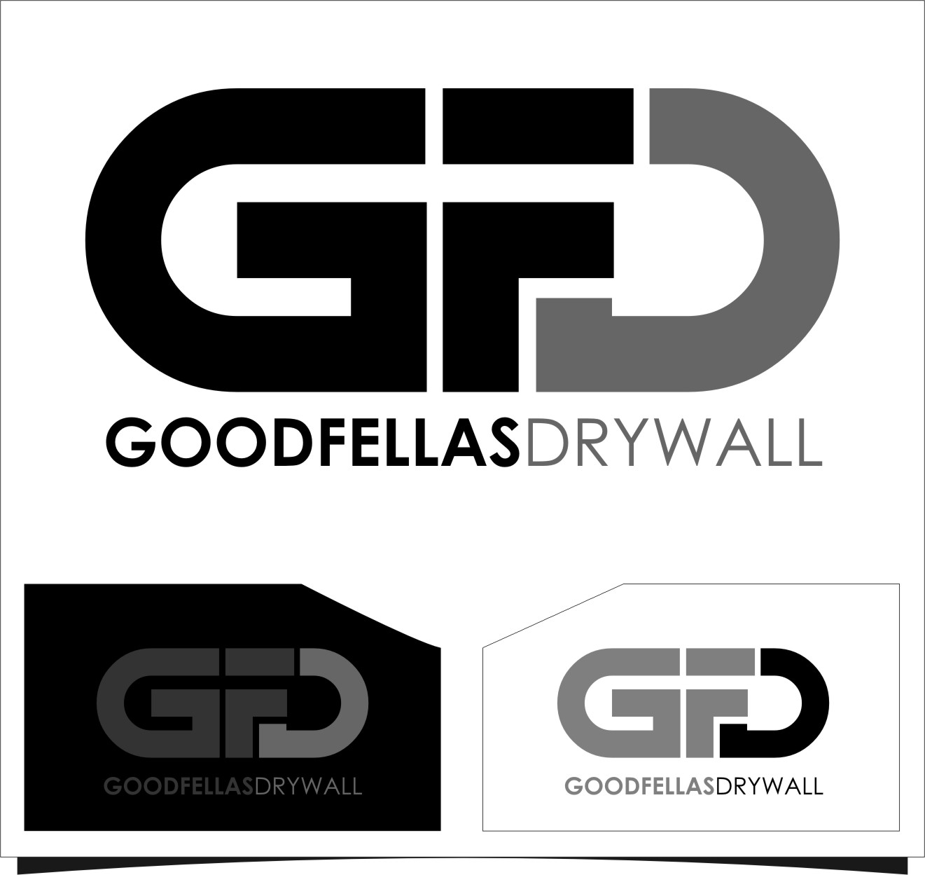 Logo Design by RoSyid Rono-Rene On Java - Entry No. 51 in the Logo Design Contest Creative Logo Design for Goodfellas Drywall.