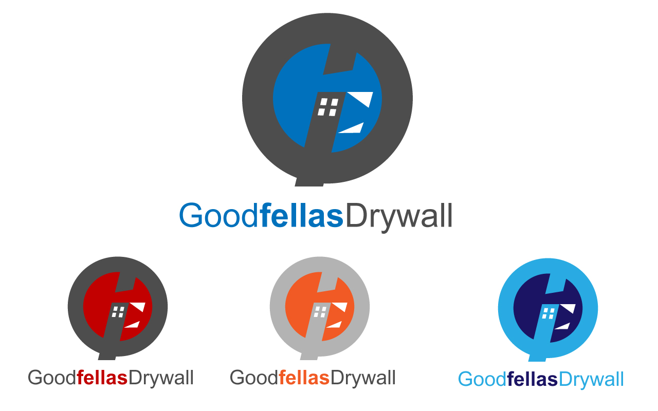 Logo Design by Jagdeep Singh - Entry No. 54 in the Logo Design Contest Creative Logo Design for Goodfellas Drywall.