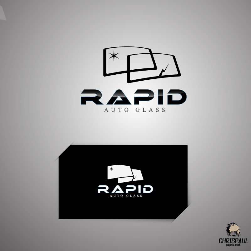 Logo Design by zesthar - Entry No. 155 in the Logo Design Contest Unique Logo Design Wanted for Rapid Auto Glass.