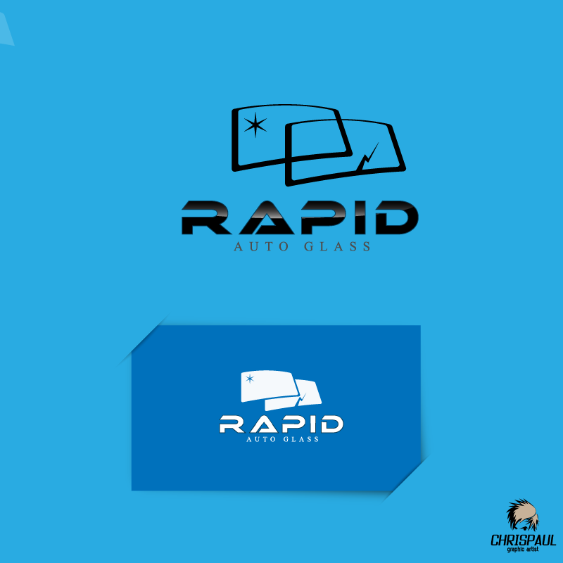 Logo Design by zesthar - Entry No. 156 in the Logo Design Contest Unique Logo Design Wanted for Rapid Auto Glass.