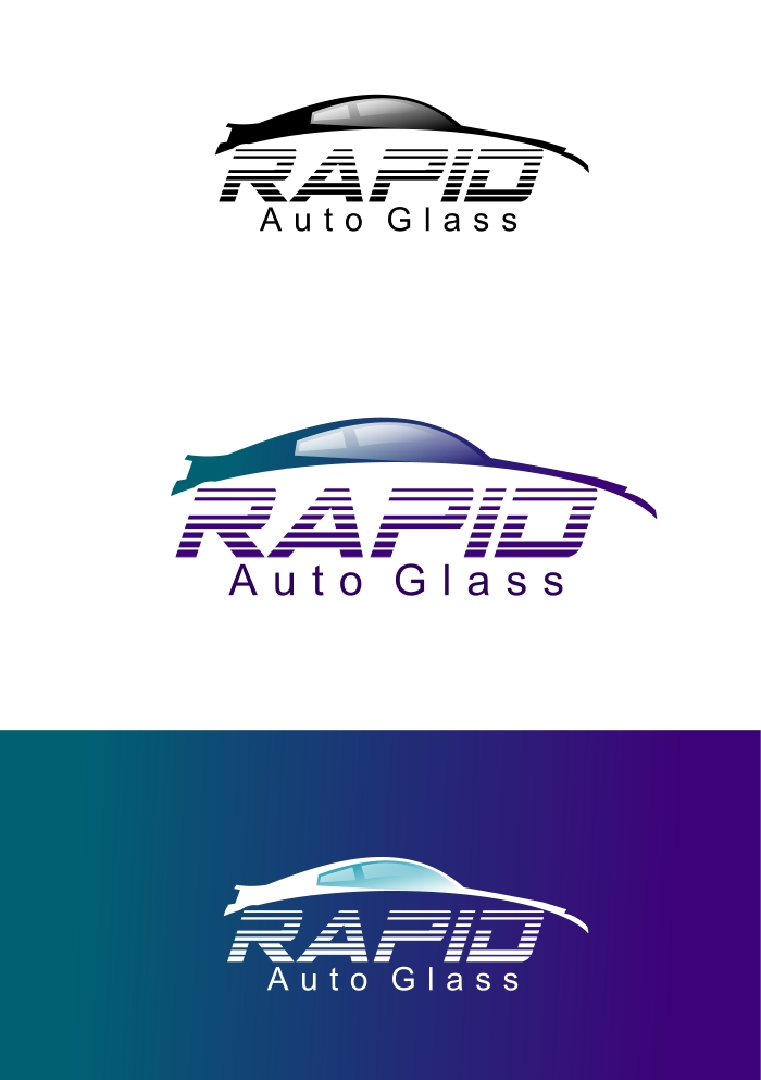 Logo Design by Private User - Entry No. 159 in the Logo Design Contest Unique Logo Design Wanted for Rapid Auto Glass.