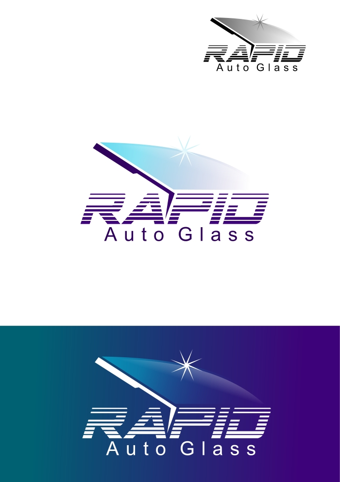Logo Design by Private User - Entry No. 160 in the Logo Design Contest Unique Logo Design Wanted for Rapid Auto Glass.