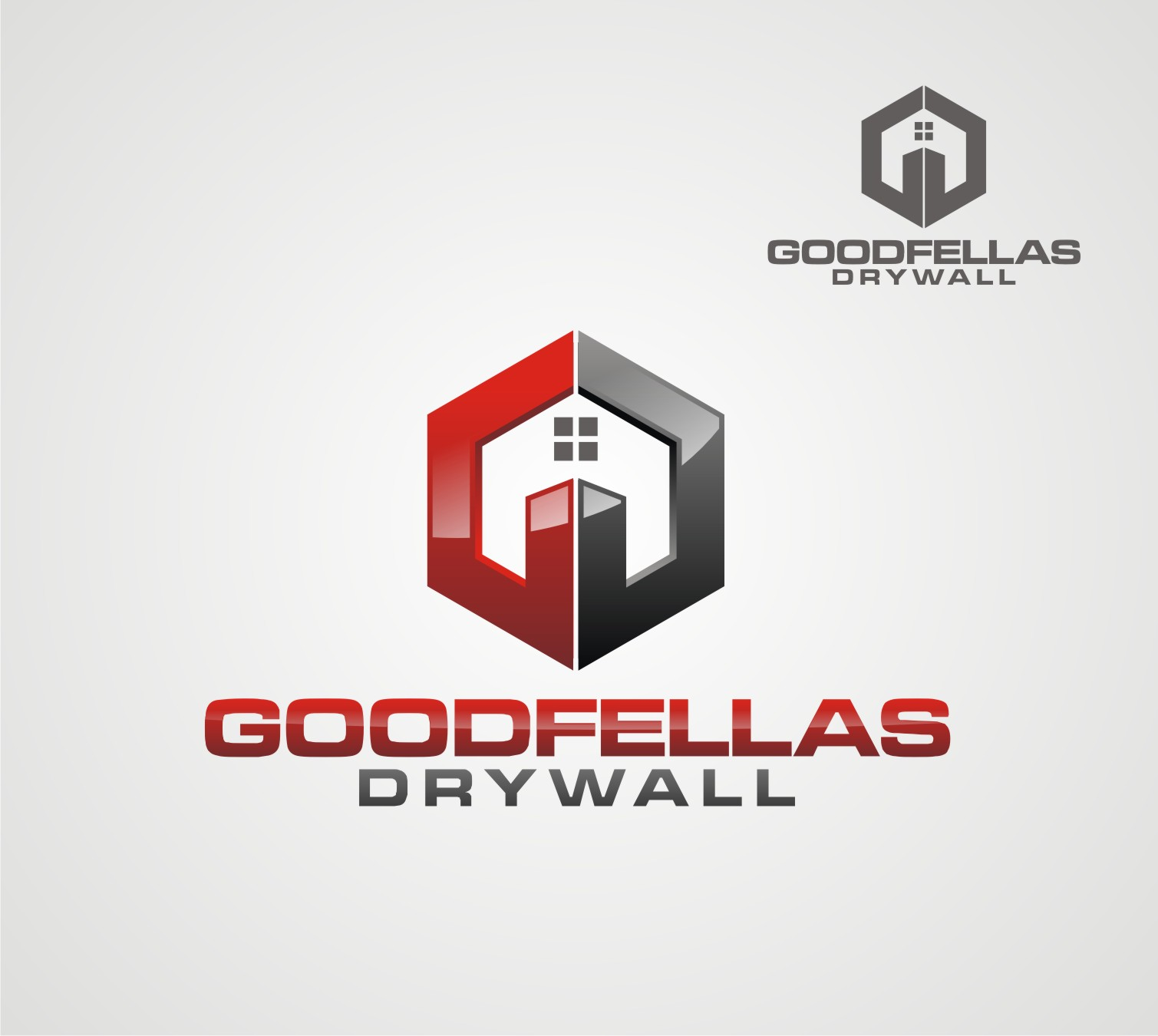 Logo Design by Reivan Ferdinan - Entry No. 60 in the Logo Design Contest Creative Logo Design for Goodfellas Drywall.