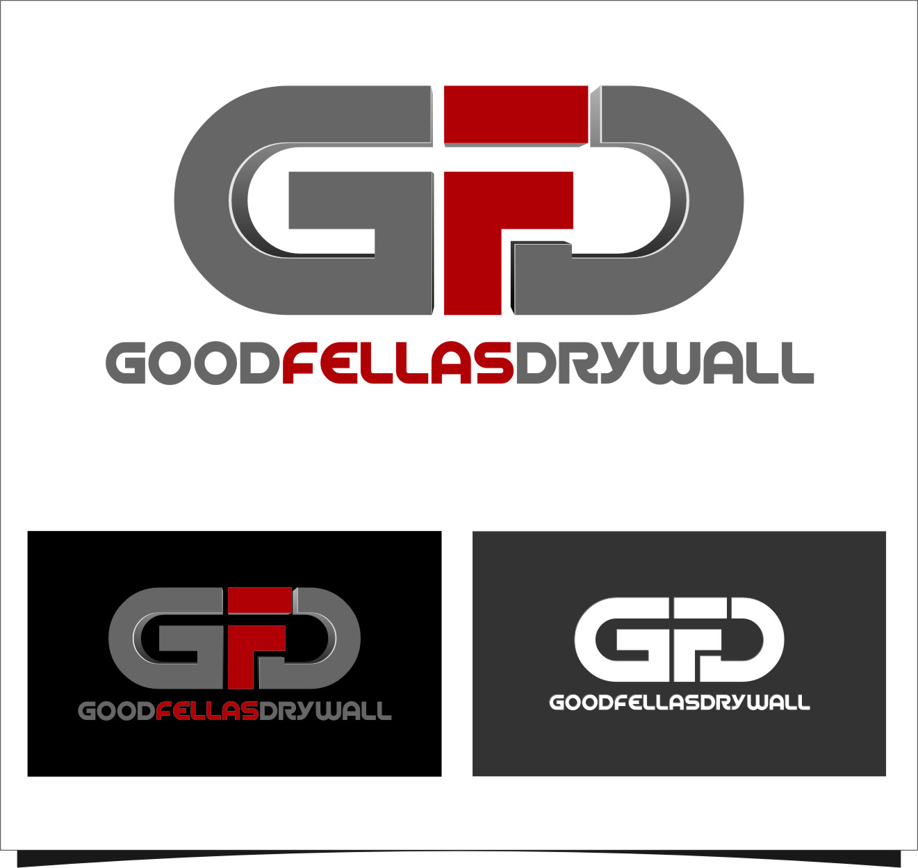 Logo Design by Ngepet_art - Entry No. 62 in the Logo Design Contest Creative Logo Design for Goodfellas Drywall.