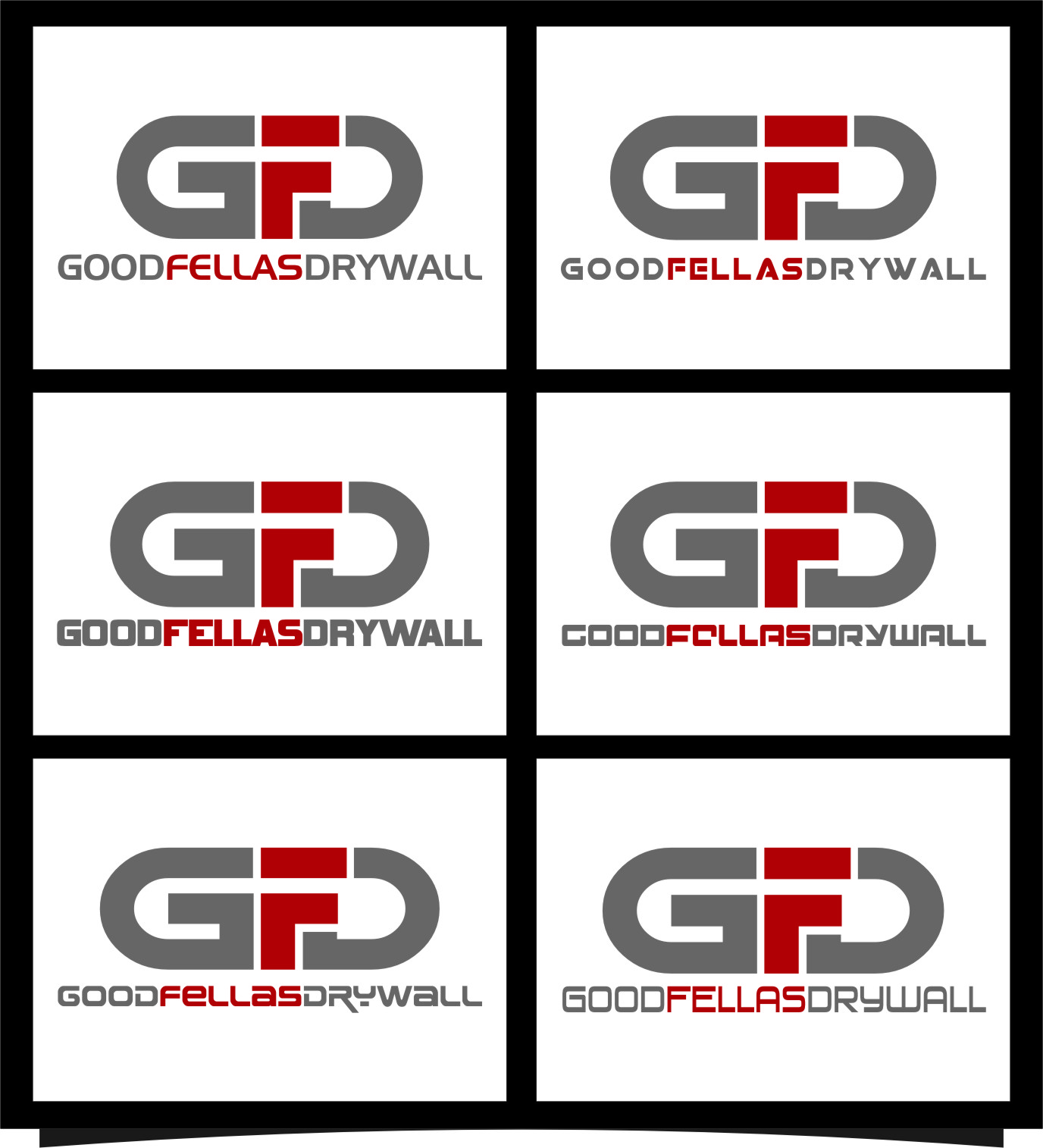 Logo Design by RasYa Muhammad Athaya - Entry No. 63 in the Logo Design Contest Creative Logo Design for Goodfellas Drywall.