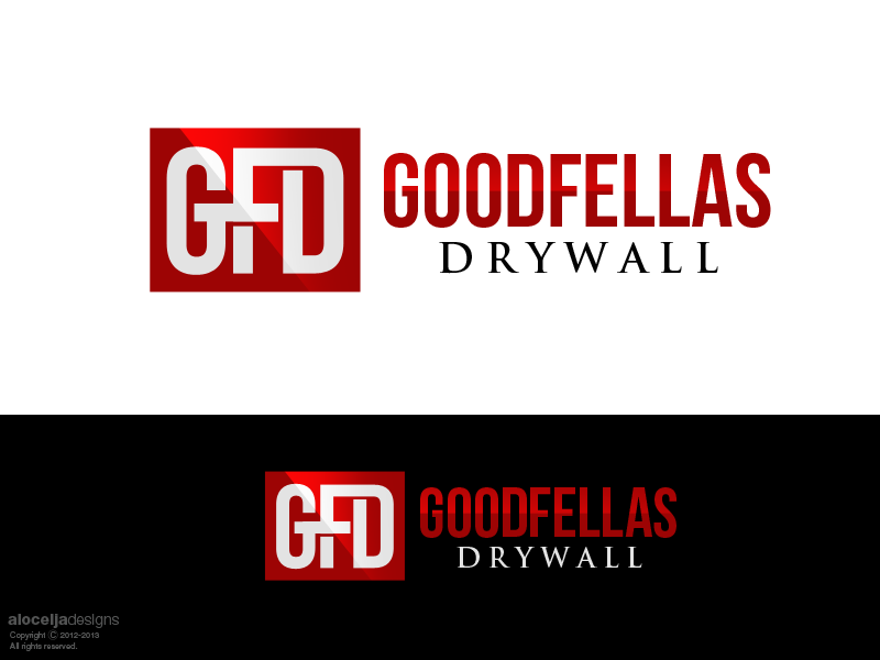 Logo Design by alocelja - Entry No. 66 in the Logo Design Contest Creative Logo Design for Goodfellas Drywall.