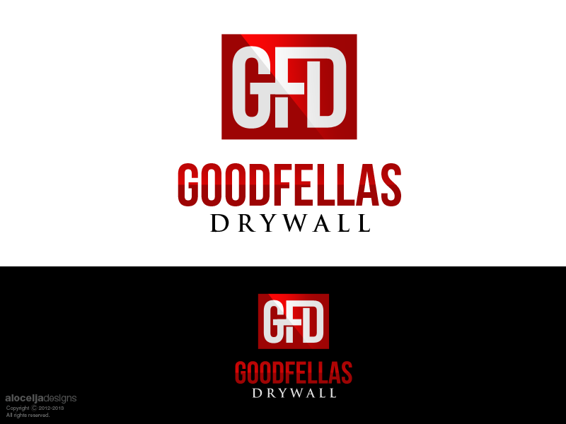Logo Design by alocelja - Entry No. 67 in the Logo Design Contest Creative Logo Design for Goodfellas Drywall.