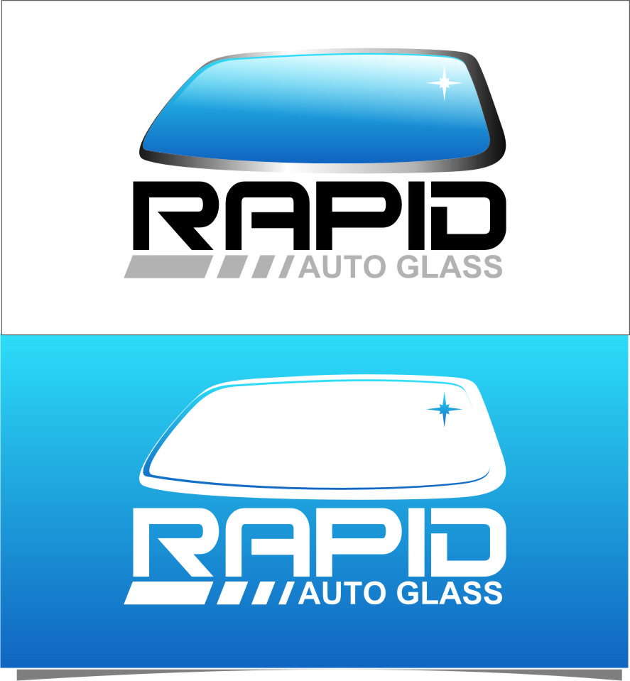 Logo Design by Ngepet_art - Entry No. 163 in the Logo Design Contest Unique Logo Design Wanted for Rapid Auto Glass.