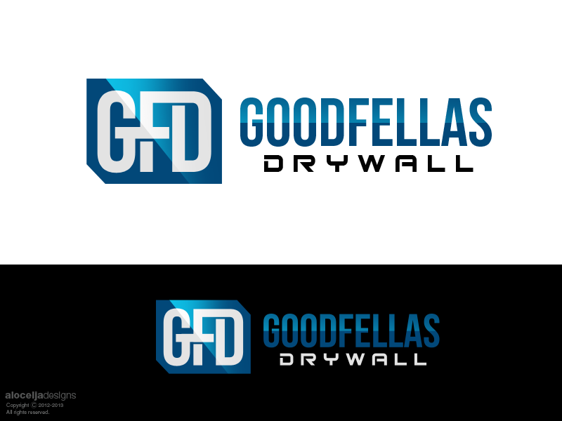 Logo Design by alocelja - Entry No. 68 in the Logo Design Contest Creative Logo Design for Goodfellas Drywall.