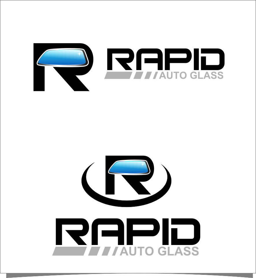 Logo Design by Ngepet_art - Entry No. 165 in the Logo Design Contest Unique Logo Design Wanted for Rapid Auto Glass.