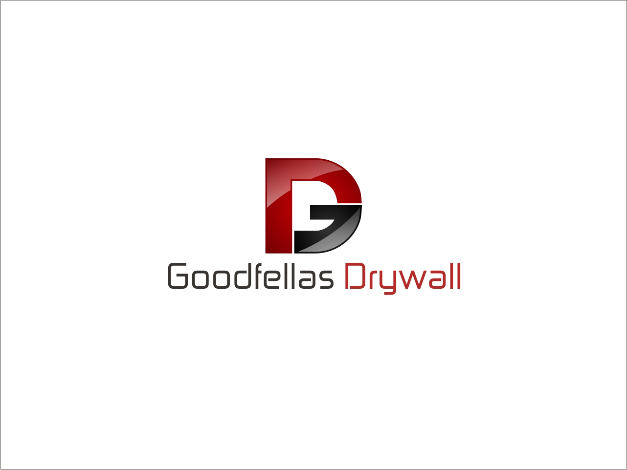 Logo Design by Private User - Entry No. 72 in the Logo Design Contest Creative Logo Design for Goodfellas Drywall.