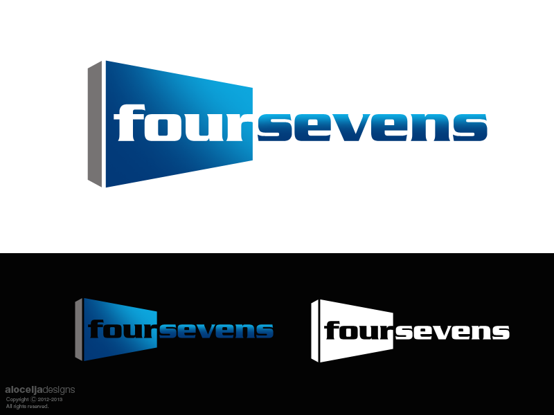 Logo Design by alocelja - Entry No. 21 in the Logo Design Contest New Logo Design for foursevens.