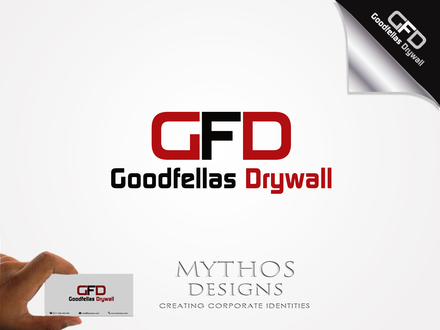 Logo Design by Mythos Designs - Entry No. 82 in the Logo Design Contest Creative Logo Design for Goodfellas Drywall.