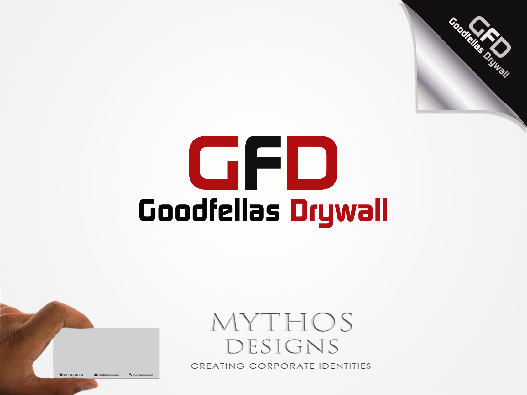 Logo Design by Mythos Designs - Entry No. 83 in the Logo Design Contest Creative Logo Design for Goodfellas Drywall.