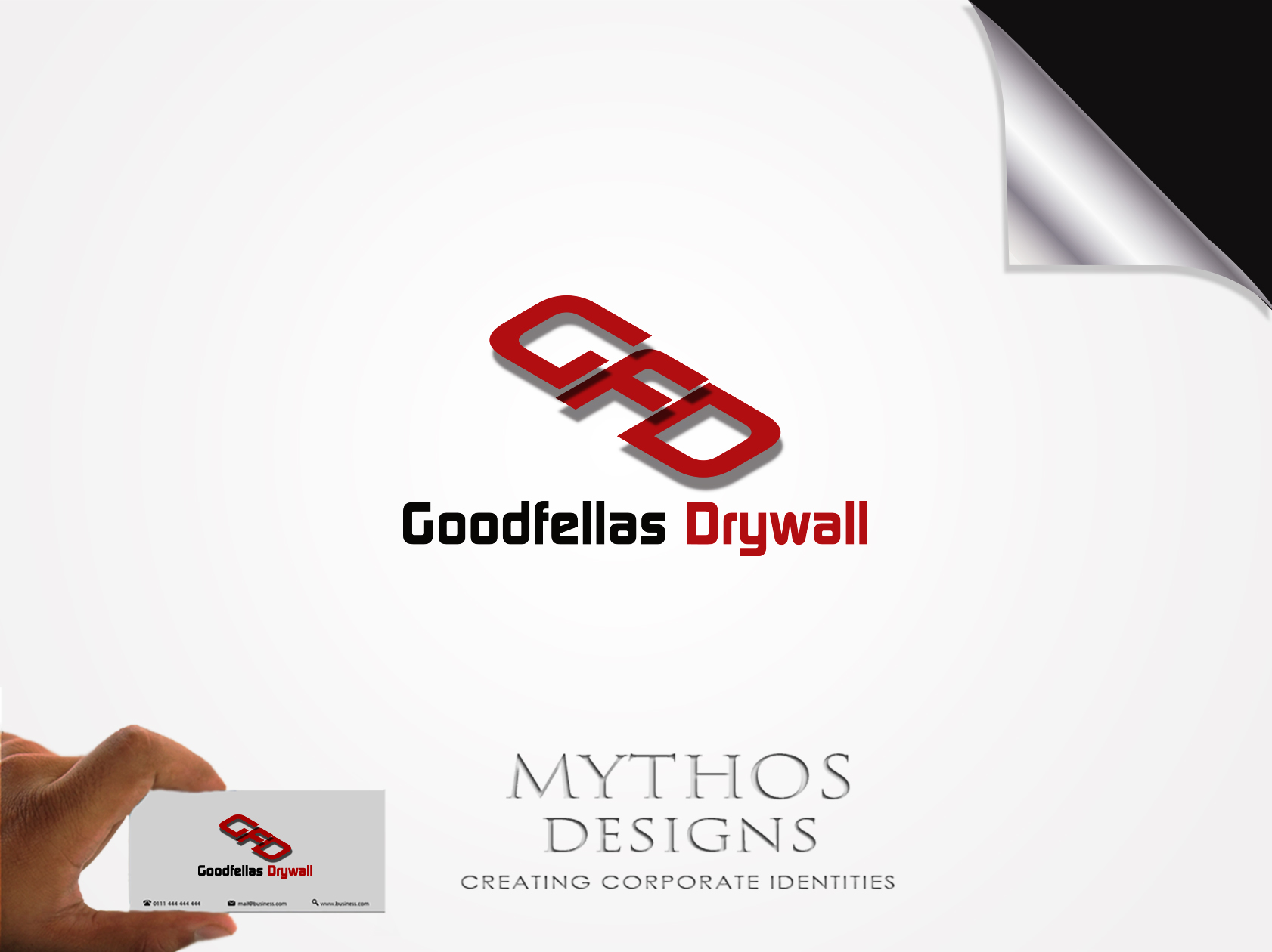 Logo Design by Mythos Designs - Entry No. 88 in the Logo Design Contest Creative Logo Design for Goodfellas Drywall.