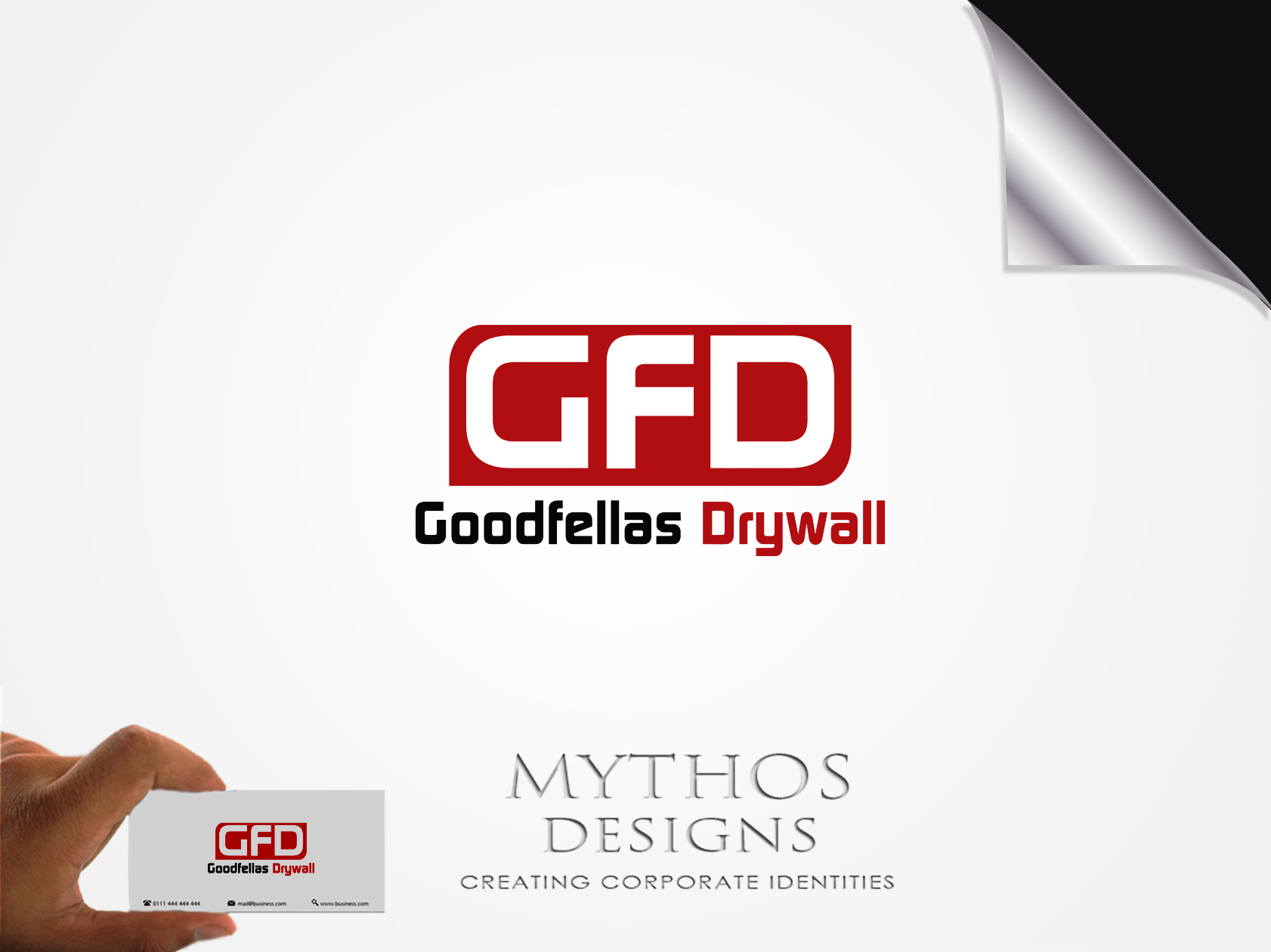 Logo Design by Mythos Designs - Entry No. 89 in the Logo Design Contest Creative Logo Design for Goodfellas Drywall.