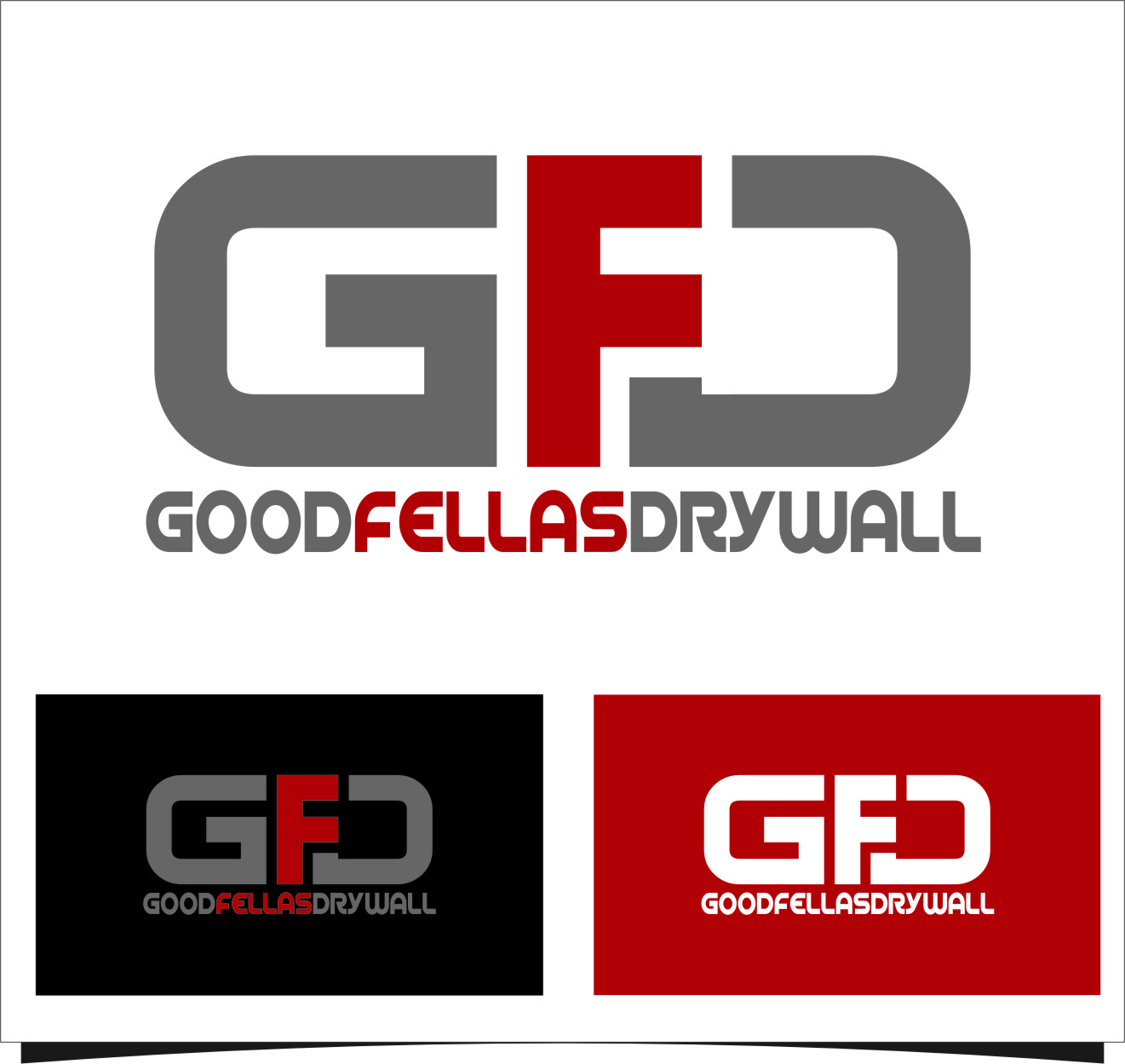 Logo Design by RasYa Muhammad Athaya - Entry No. 90 in the Logo Design Contest Creative Logo Design for Goodfellas Drywall.