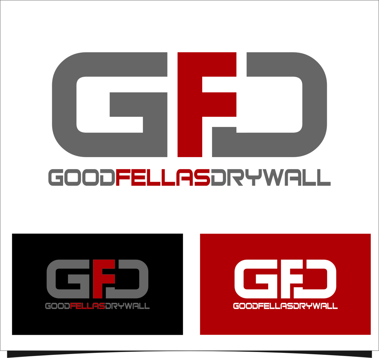 Logo Design by RasYa Muhammad Athaya - Entry No. 91 in the Logo Design Contest Creative Logo Design for Goodfellas Drywall.