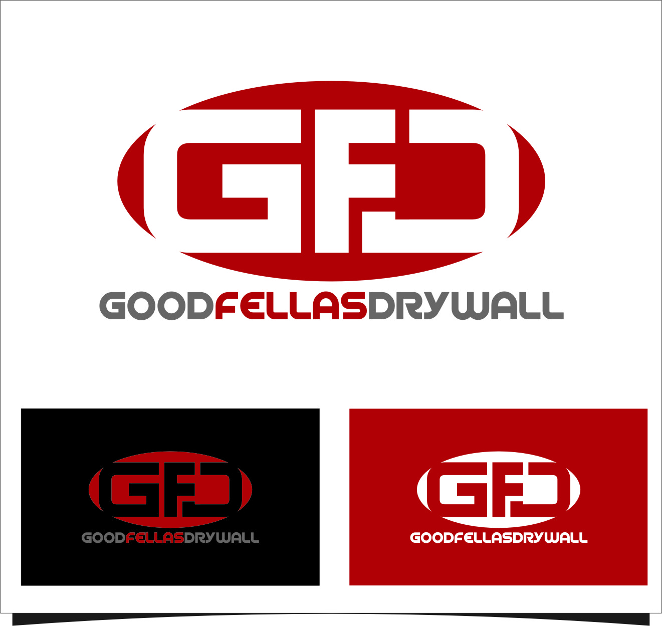 Logo Design by RoSyid Rono-Rene On Java - Entry No. 93 in the Logo Design Contest Creative Logo Design for Goodfellas Drywall.