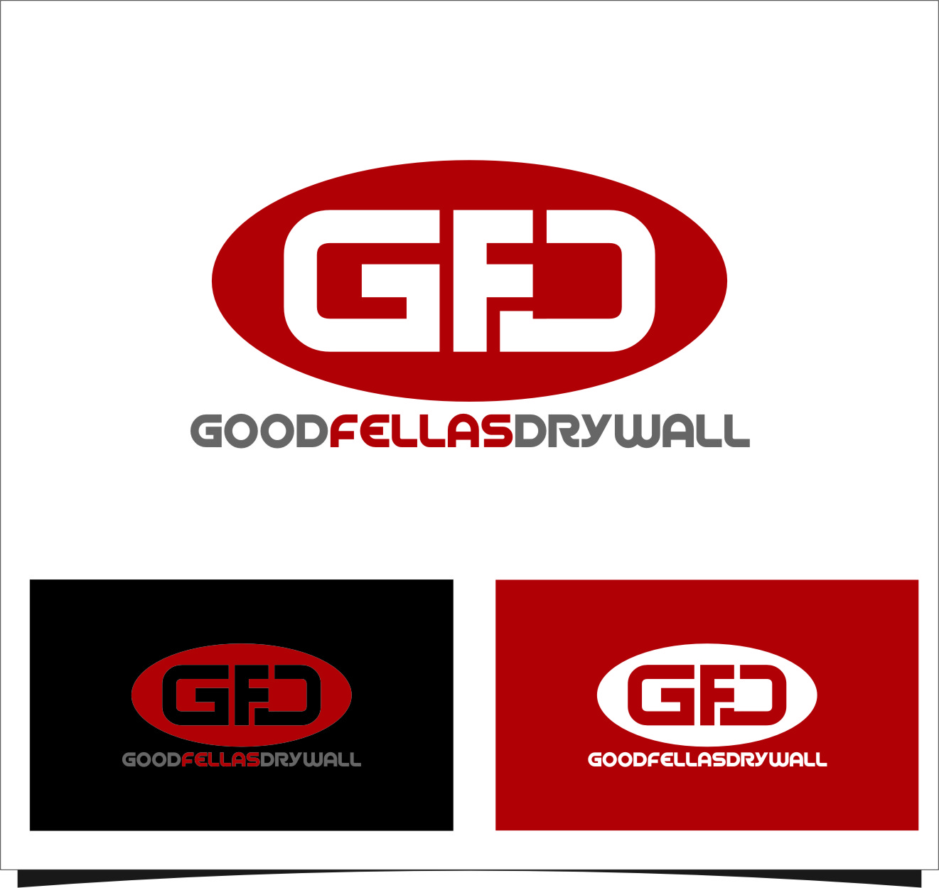 Logo Design by Ngepet_art - Entry No. 94 in the Logo Design Contest Creative Logo Design for Goodfellas Drywall.