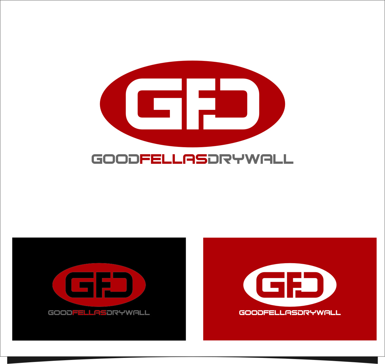 Logo Design by Ngepet_art - Entry No. 95 in the Logo Design Contest Creative Logo Design for Goodfellas Drywall.