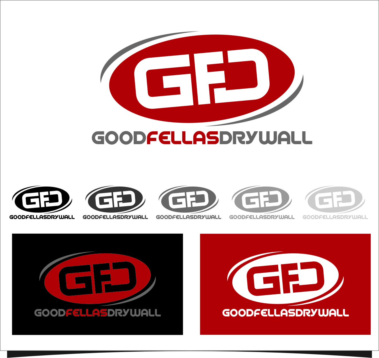 Logo Design by RasYa Muhammad Athaya - Entry No. 96 in the Logo Design Contest Creative Logo Design for Goodfellas Drywall.