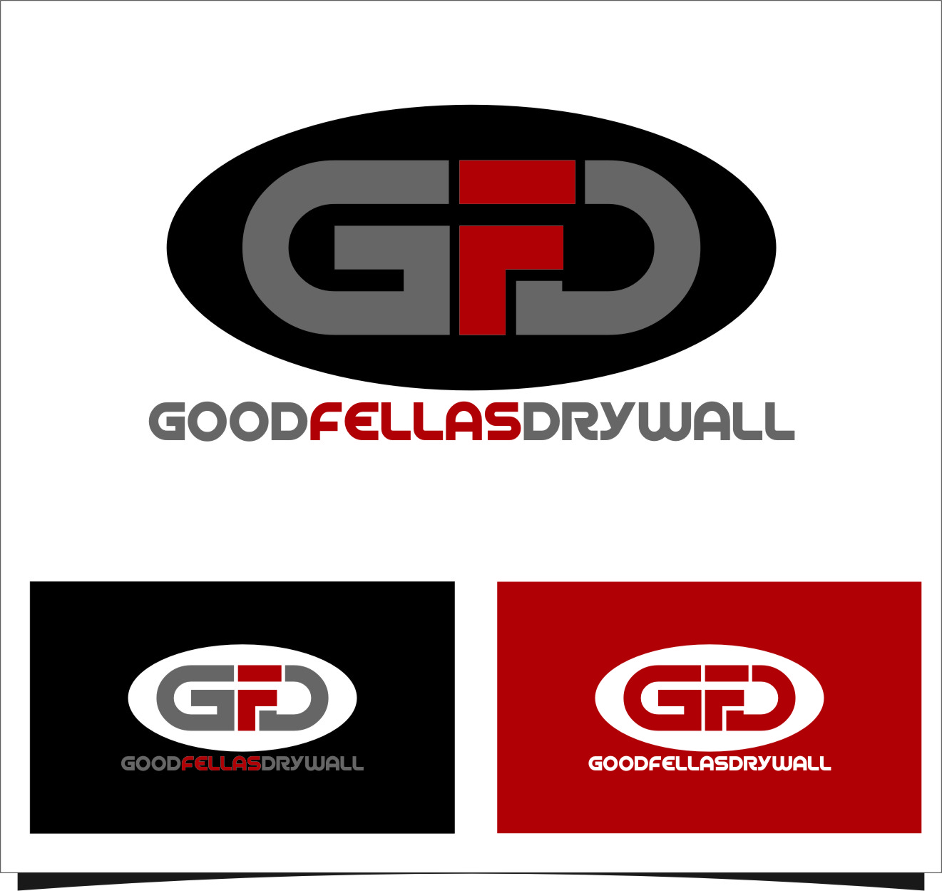 Logo Design by Ngepet_art - Entry No. 97 in the Logo Design Contest Creative Logo Design for Goodfellas Drywall.