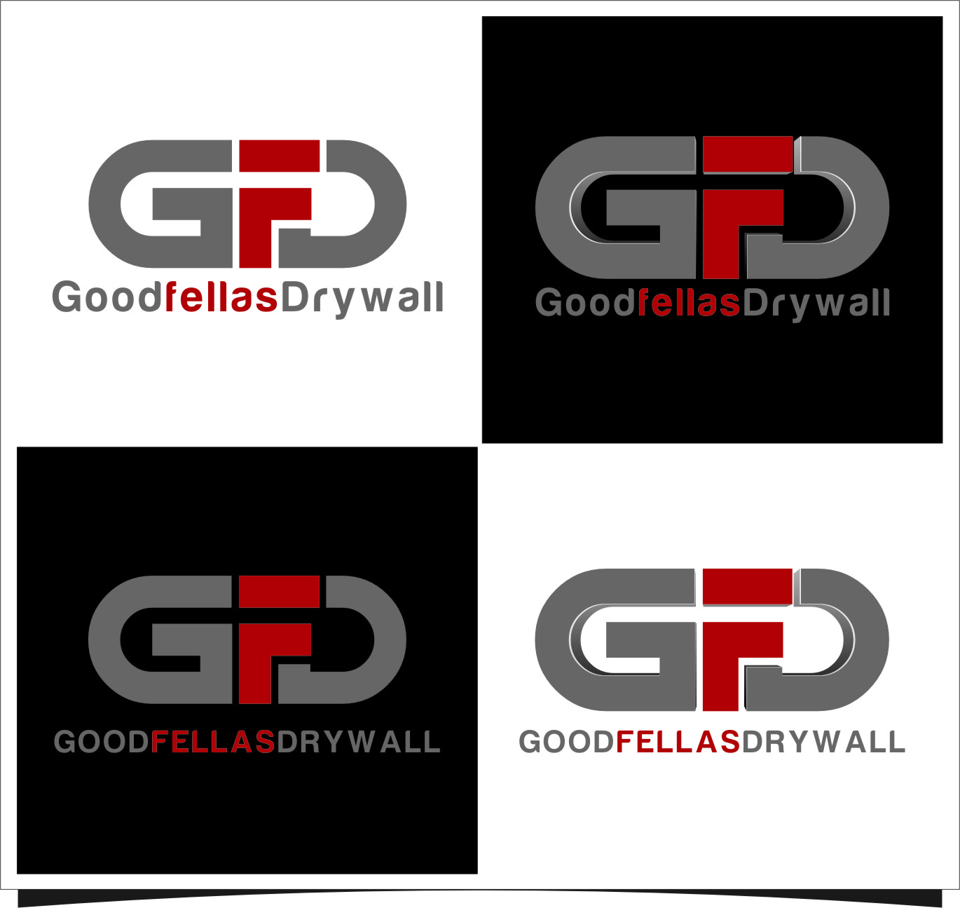 Logo Design by Ngepet_art - Entry No. 98 in the Logo Design Contest Creative Logo Design for Goodfellas Drywall.