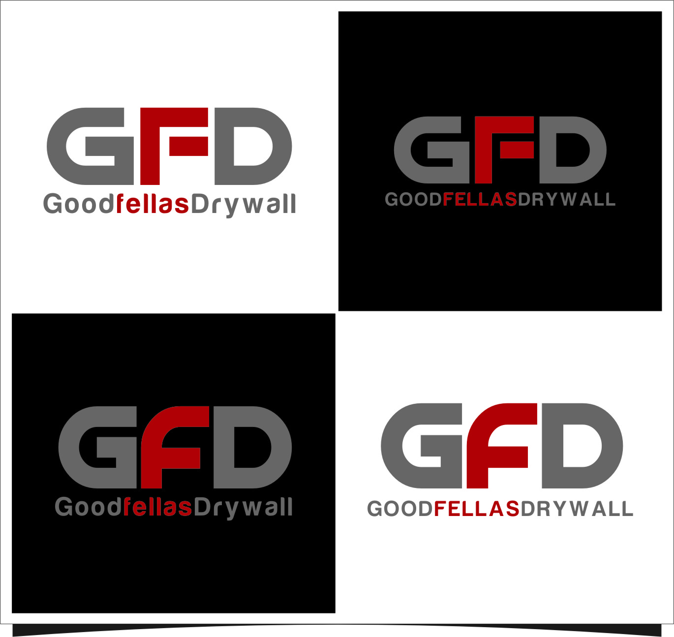 Logo Design by Ngepet_art - Entry No. 99 in the Logo Design Contest Creative Logo Design for Goodfellas Drywall.