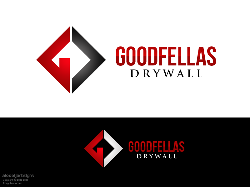 Logo Design by alocelja - Entry No. 103 in the Logo Design Contest Creative Logo Design for Goodfellas Drywall.