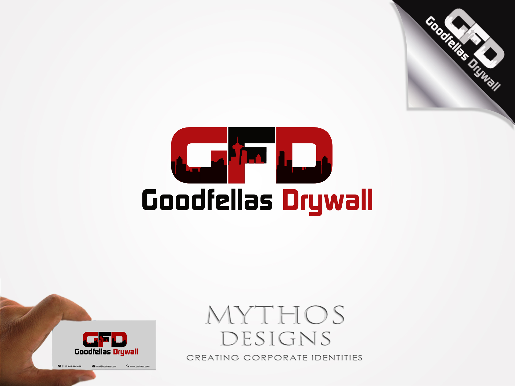 Logo Design by Mythos Designs - Entry No. 107 in the Logo Design Contest Creative Logo Design for Goodfellas Drywall.