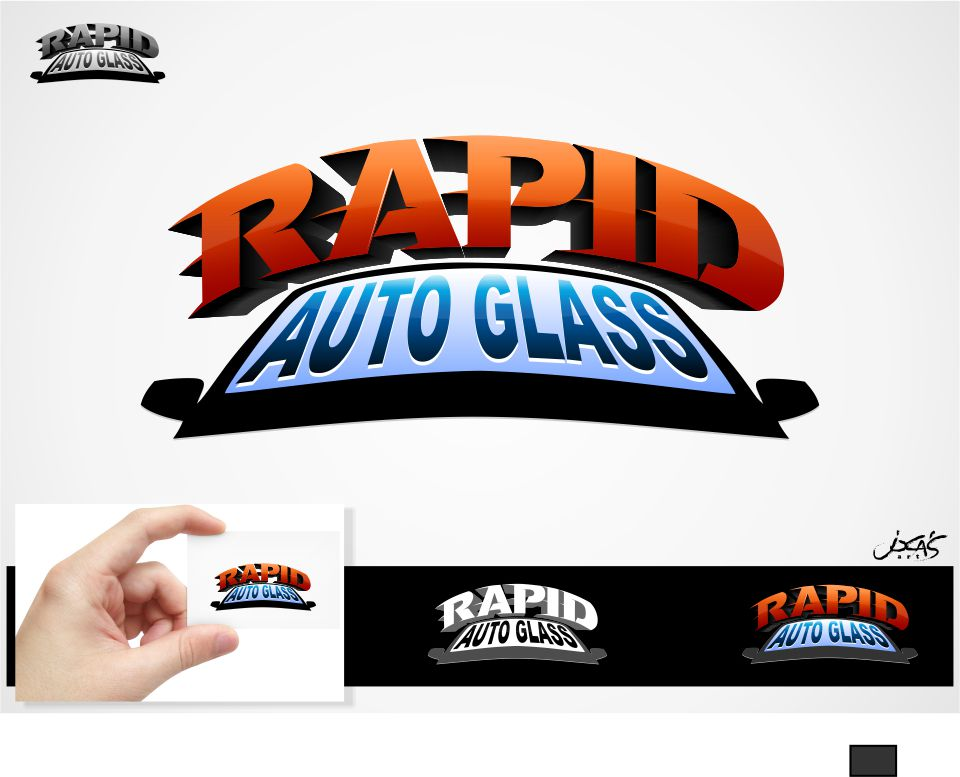 Logo Design by joca - Entry No. 176 in the Logo Design Contest Unique Logo Design Wanted for Rapid Auto Glass.