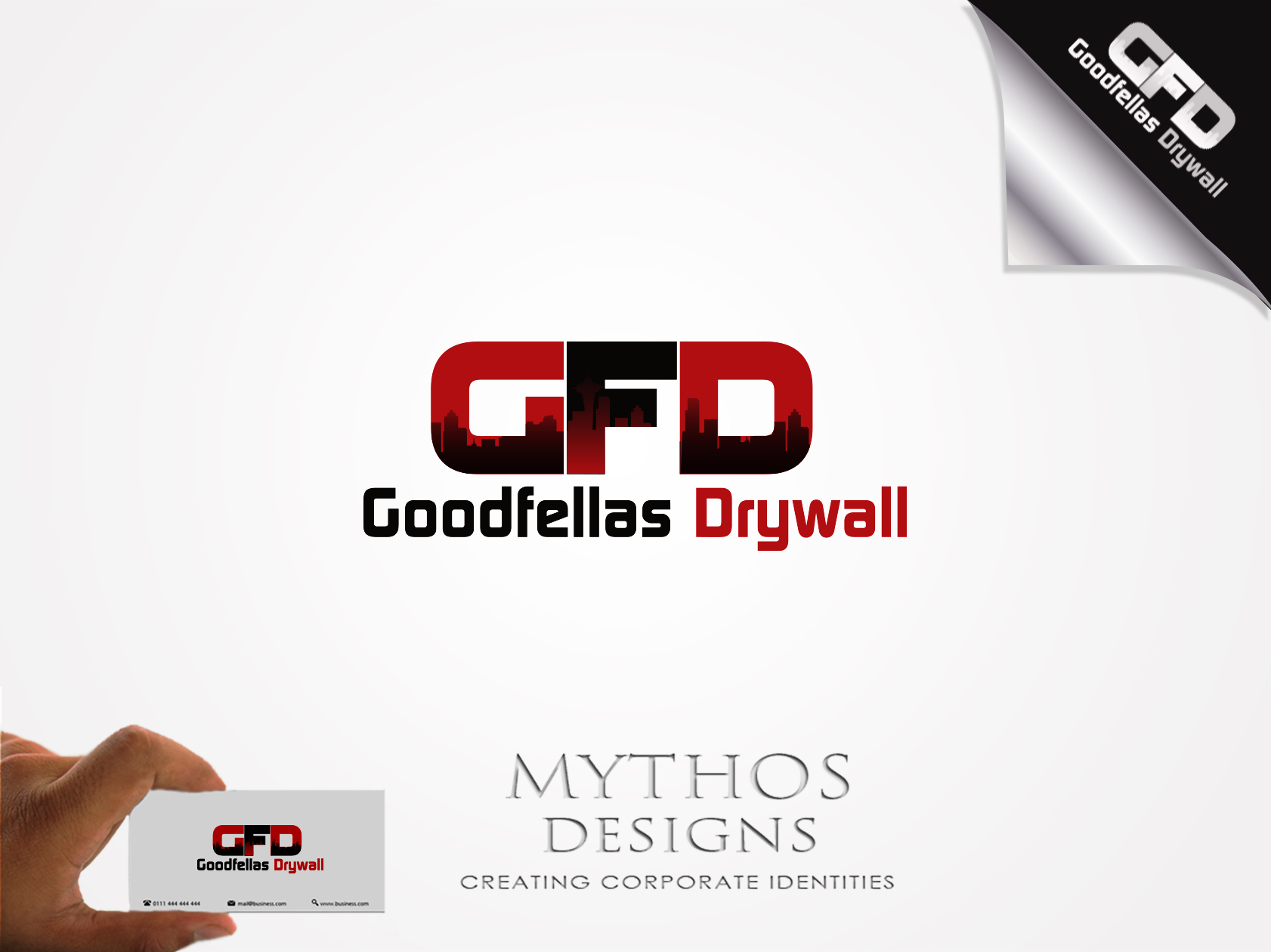 Logo Design by Mythos Designs - Entry No. 110 in the Logo Design Contest Creative Logo Design for Goodfellas Drywall.