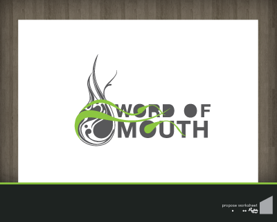 Logo Design by robbiephung - Entry No. 14 in the Logo Design Contest Word Of Mouth.