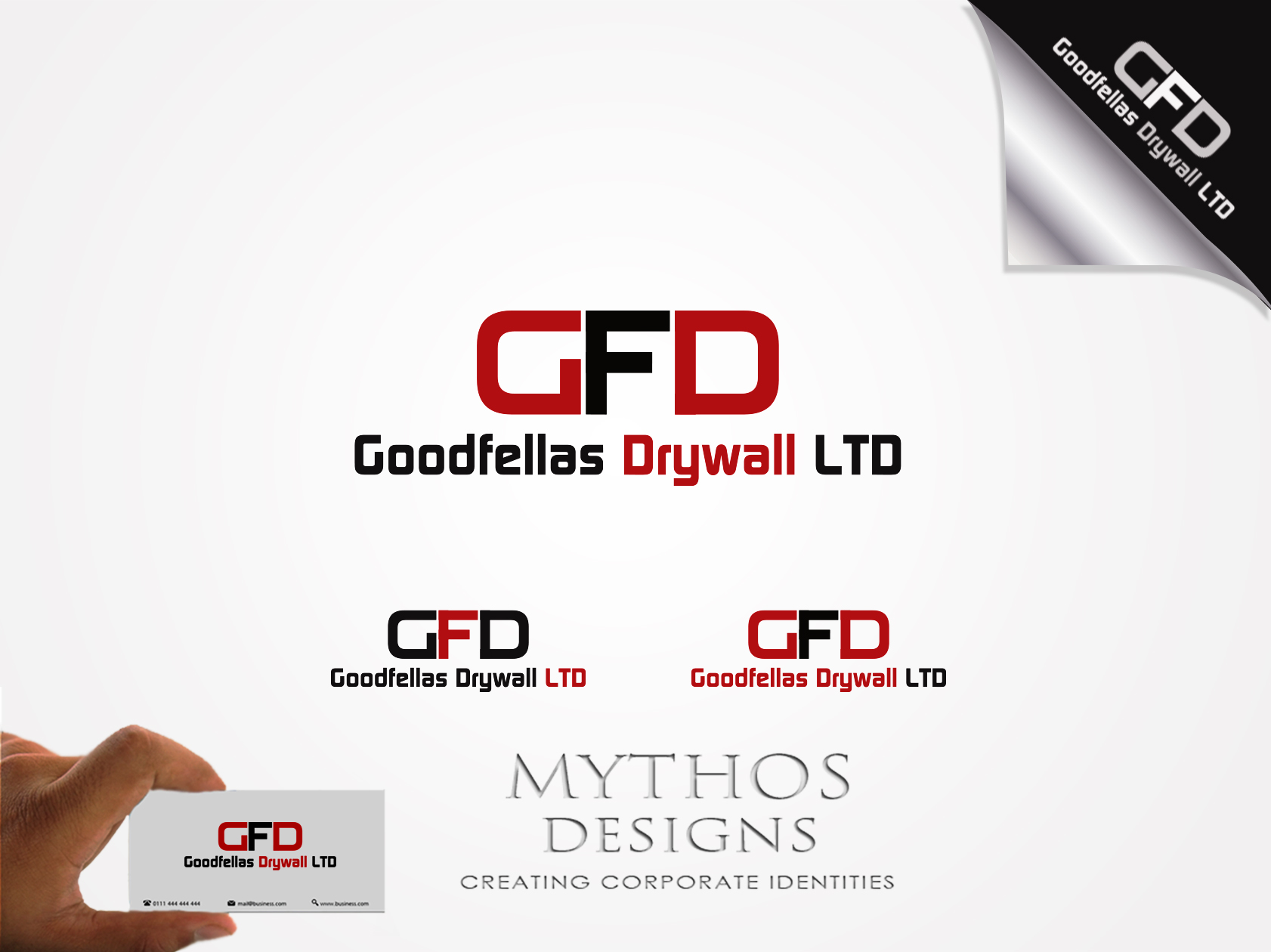 Logo Design by Mythos Designs - Entry No. 132 in the Logo Design Contest Creative Logo Design for Goodfellas Drywall.