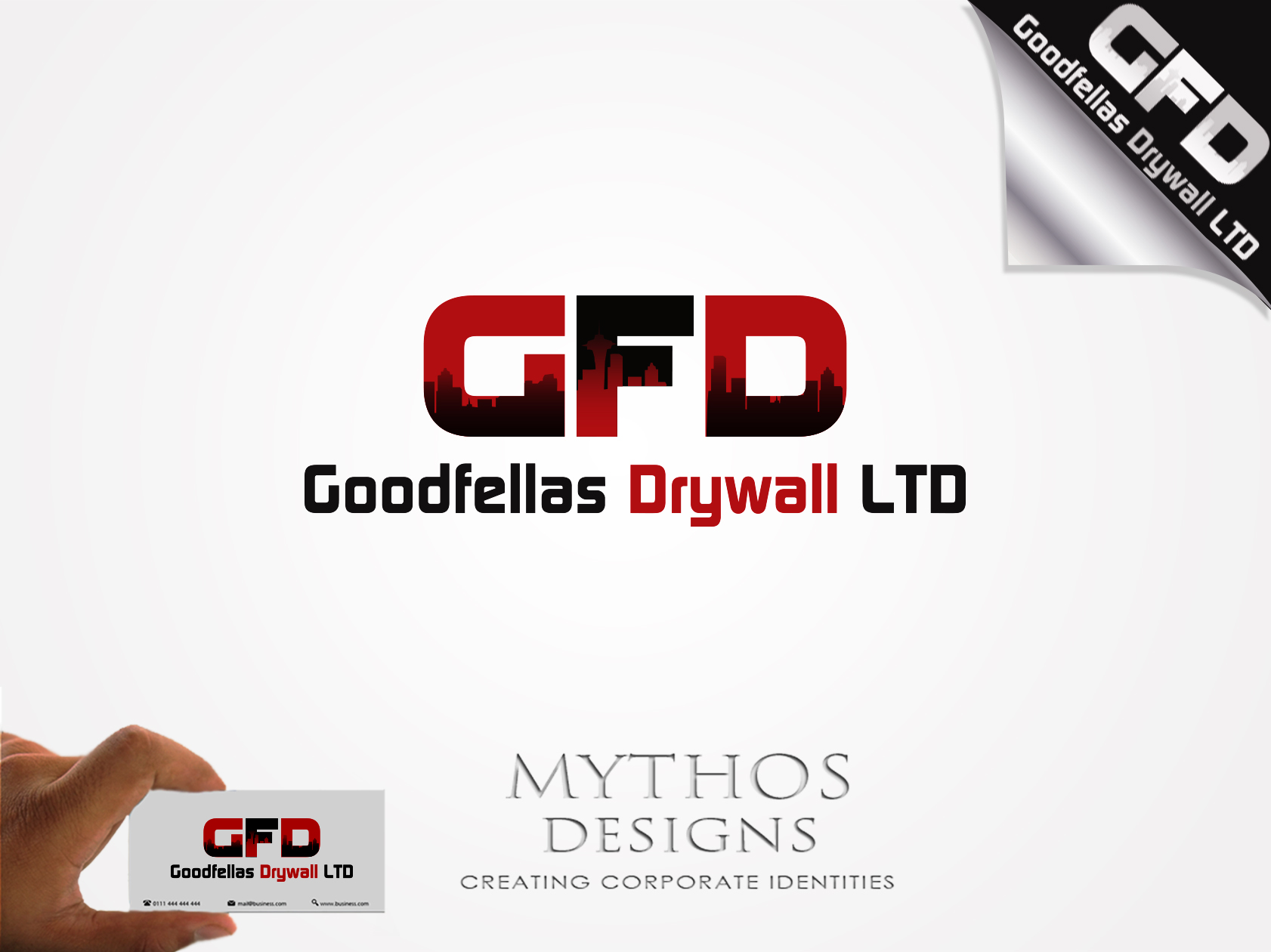 Logo Design by Mythos Designs - Entry No. 133 in the Logo Design Contest Creative Logo Design for Goodfellas Drywall.
