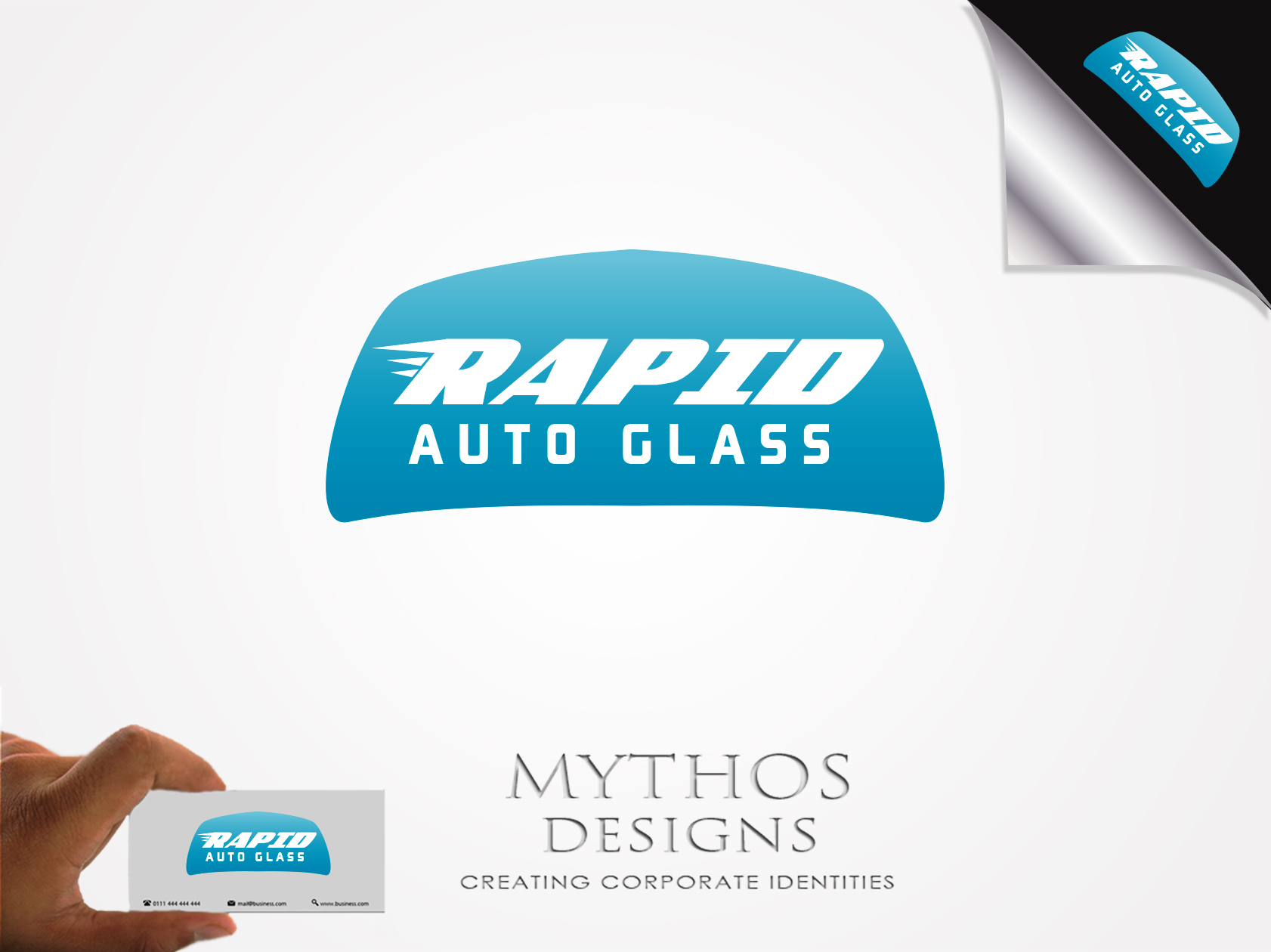 Logo Design by Mythos Designs - Entry No. 181 in the Logo Design Contest Unique Logo Design Wanted for Rapid Auto Glass.