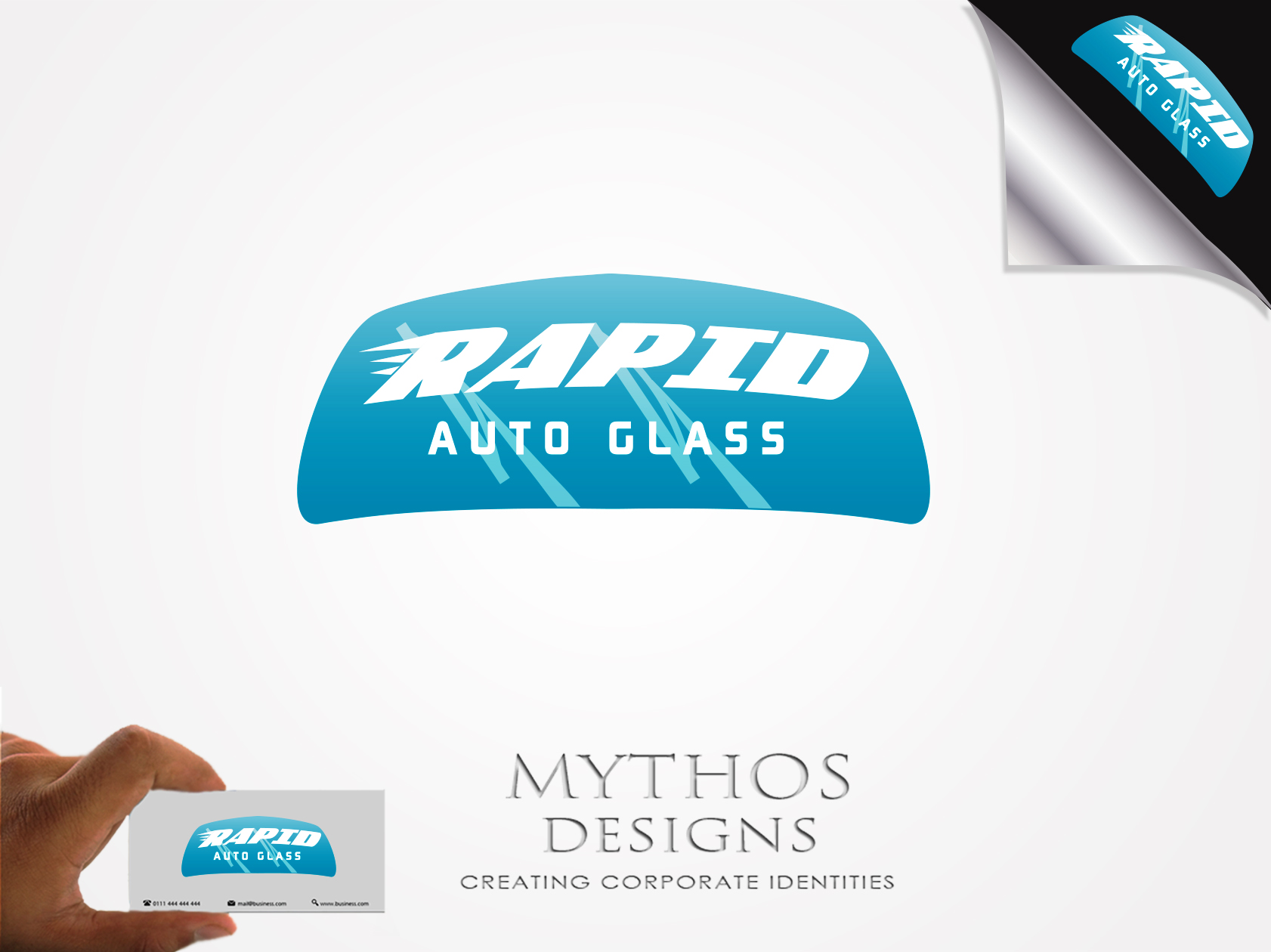 Logo Design by Mythos Designs - Entry No. 182 in the Logo Design Contest Unique Logo Design Wanted for Rapid Auto Glass.