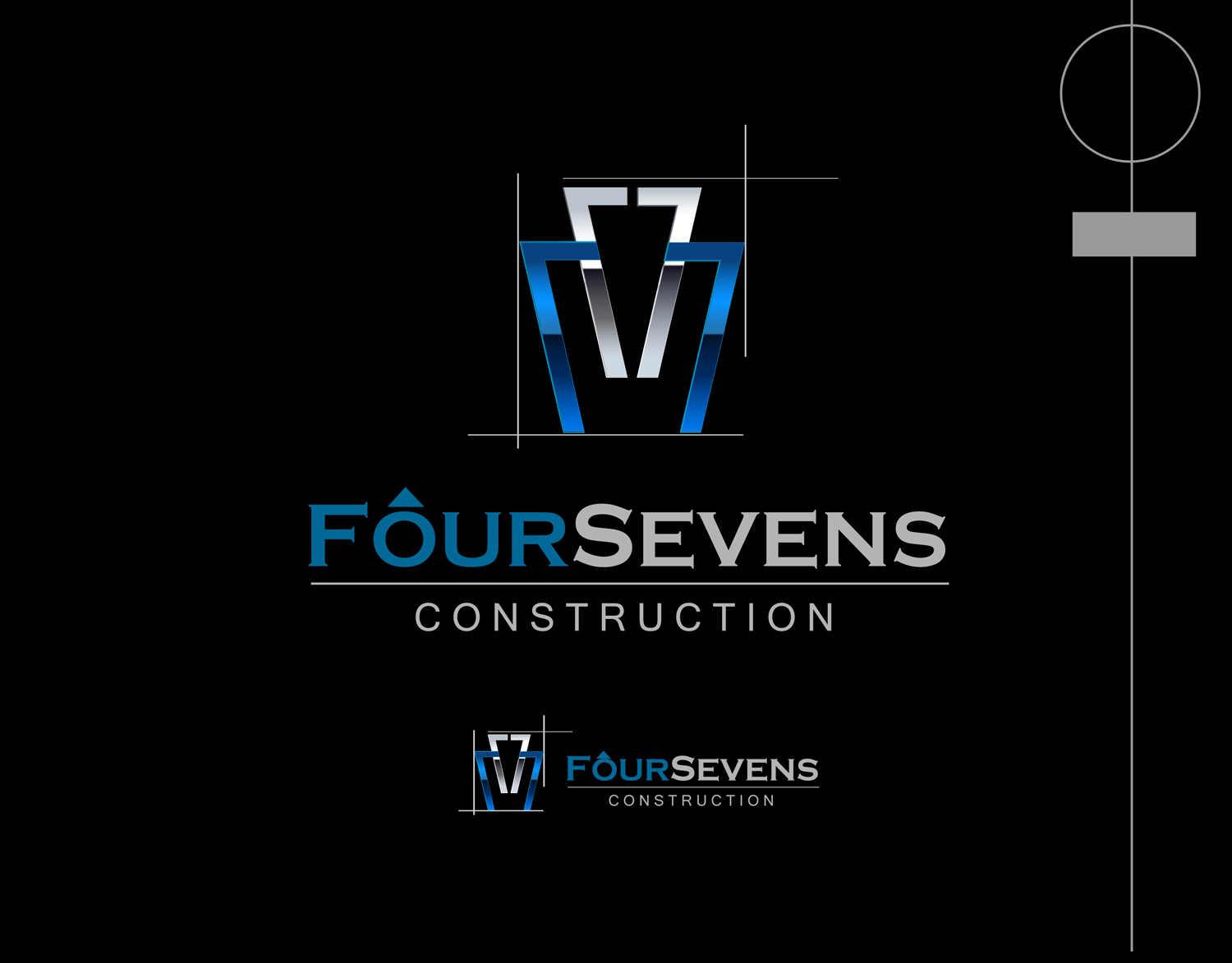 Logo Design by Mark Anthony Moreto Jordan - Entry No. 57 in the Logo Design Contest New Logo Design for foursevens.