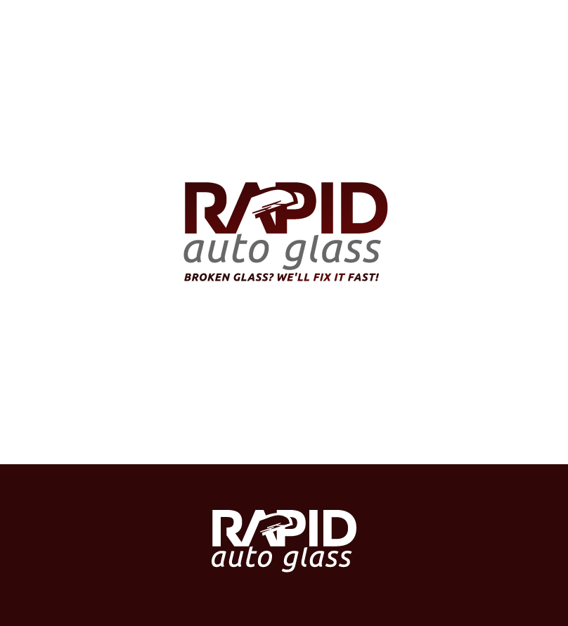 Logo Design by Ziza Stupkova - Entry No. 183 in the Logo Design Contest Unique Logo Design Wanted for Rapid Auto Glass.
