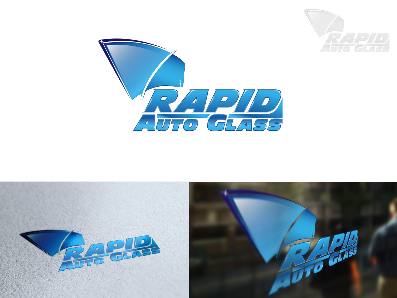 Logo Design by olii - Entry No. 185 in the Logo Design Contest Unique Logo Design Wanted for Rapid Auto Glass.
