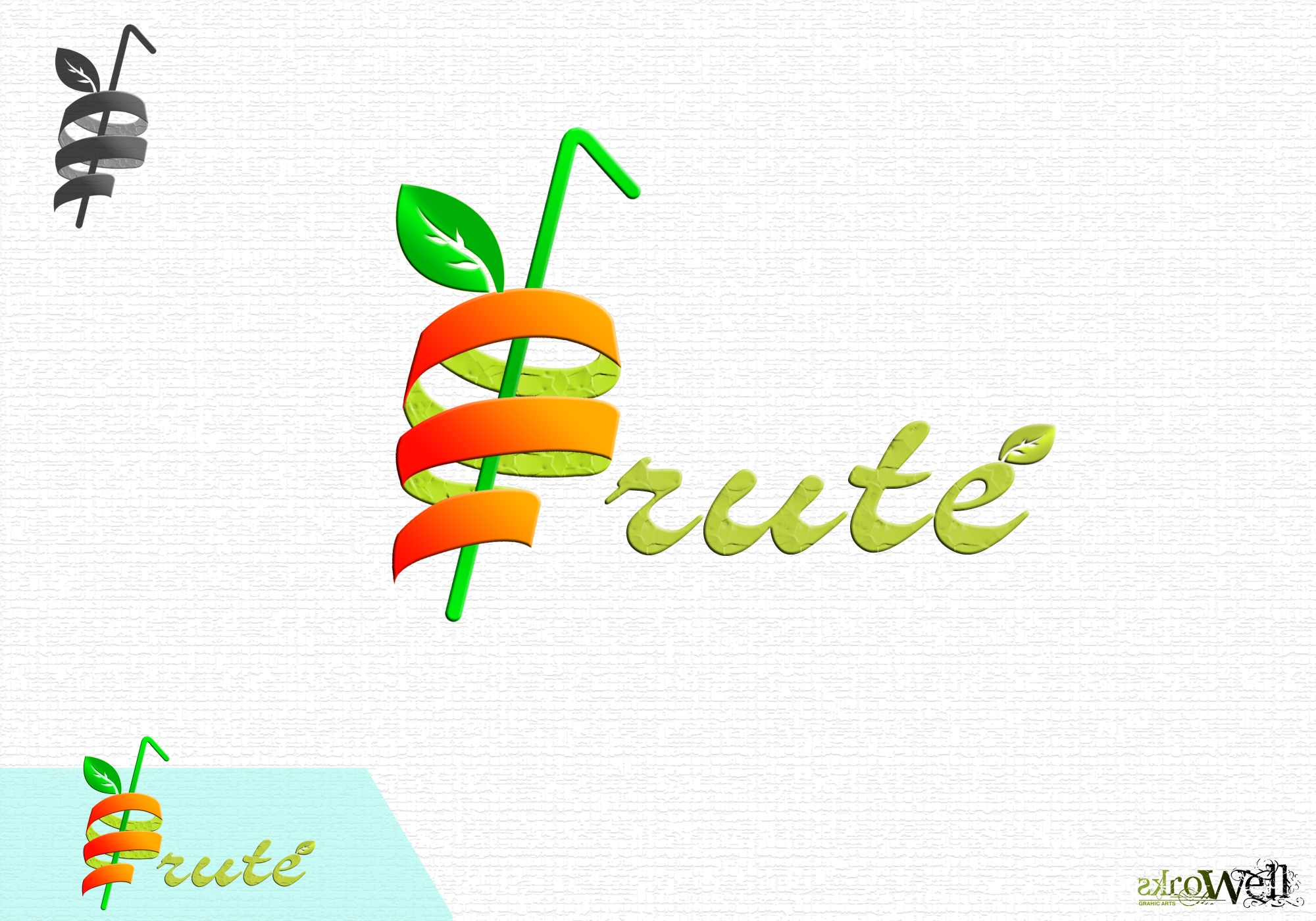 Logo Design by Rowell - Entry No. 60 in the Logo Design Contest Imaginative Logo Design for Fruté.