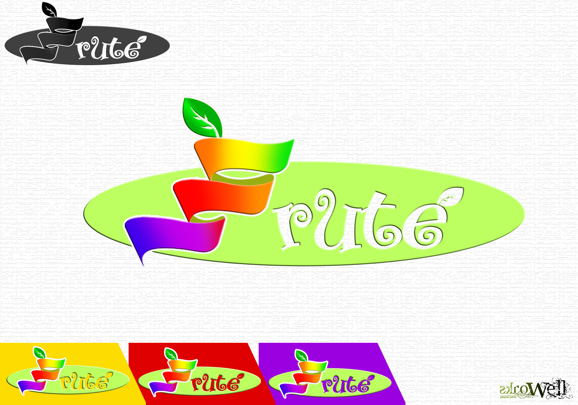 Logo Design by Rowell - Entry No. 89 in the Logo Design Contest Imaginative Logo Design for Fruté.